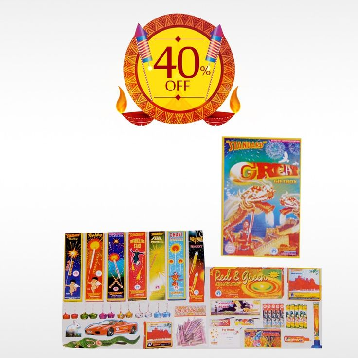Buy STANDARD GREAT (28 ITEMS) #GiftBox  online this #Diwali  and make the festival celebration more unique. Get 40% off on #DiwaliCrackers . Hurry Up! Limited Offer!