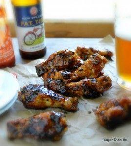 Beer Braised Honey Sriracha Wings - Sugar Dish Me