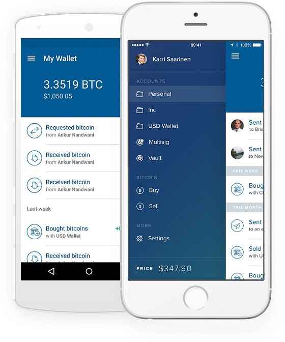 A bitcoin wallet is a simple app that runs on your smartphone or PC.