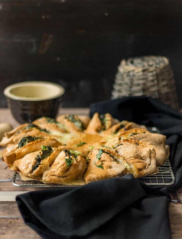 Zawijaniec chlebowy ze szpinakiem