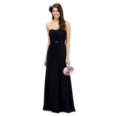 Debut Sophia Blue ruched maxi dress- | Debenhams