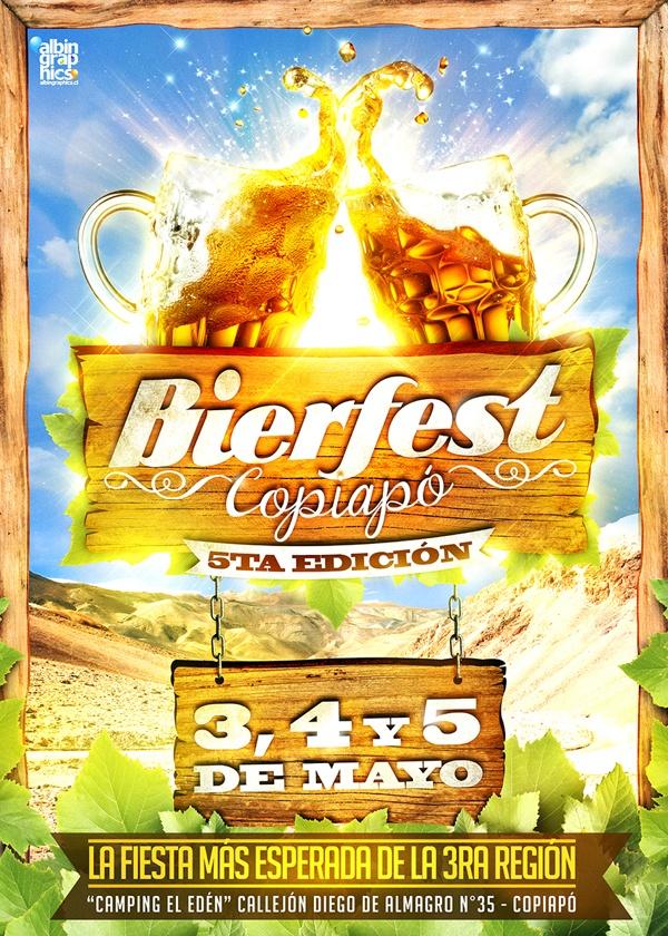 "Gráfica ""Bierfest Copiapó 2013"". by Félix Farías, via Behance"