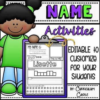 These printables will give your students a variety of activities to practice writing and learning all about their name! Perfect for back to school and beginning of the year activities.