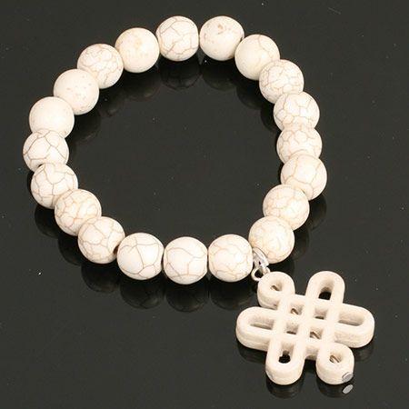 Stretch Infinity Knot Braclet. www.shazbamdecor.com