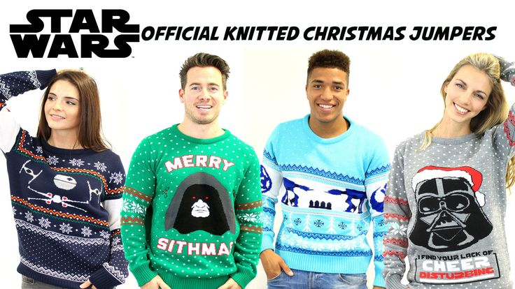 Merry Sithmas. #starwars Xmas Jumpers. Brings a whole new dimension to pattern #knitting #awsome