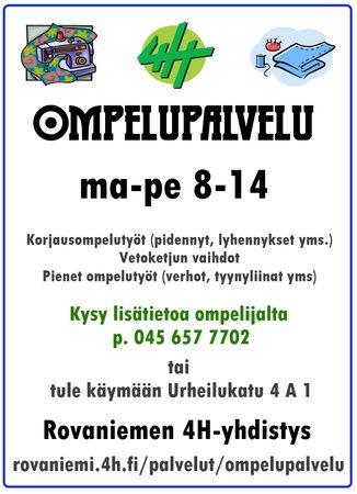 Ompelupalvelu - Rovaniemen4 H-yhdistys
