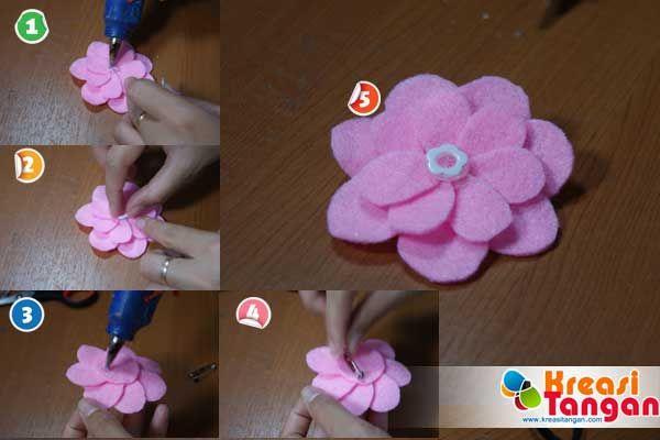 Tutorial Cara Membuat Bunga Kancing Dari Kain Flanel