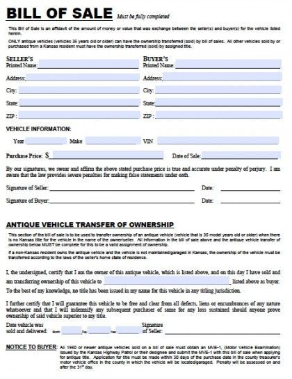 594 best printable agreement images on Pinterest Sample resume - automotive bill of sale