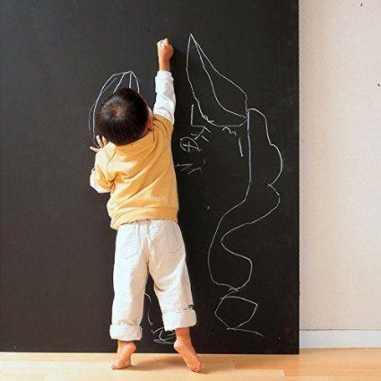 GreenForest Tafel Kontakt Papier f¨¹r B¨¹ro oder Kinder Tafel Decals Dienstprogramm Wall Decals mit 5 Farb-Stifte 45*200cm/17.7*78.7inches