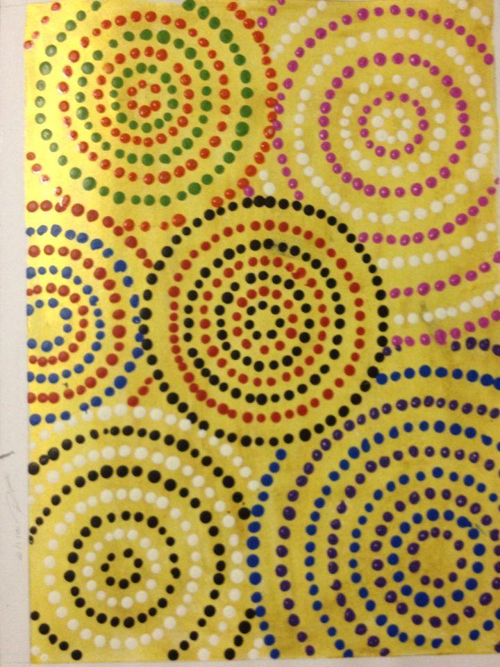 Dots design Inspired by aboriginal art