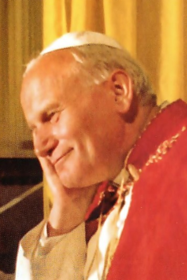 Blessed Pope JP II - what a beautiful pic