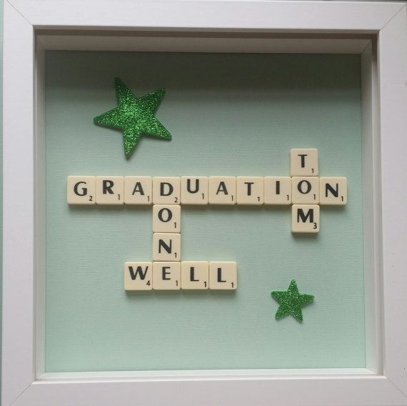 Check out this item in my Etsy shop https://www.etsy.com/uk/listing/241667429/personalised-graduation-scrabble-box