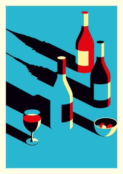 Malika Favre - Tapas & Wine  Tiphaine-illustration  #Summer #illustration #wine