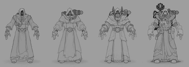MMO armors for the Tech-priest healing class in the Warhammer 40,000 MMO - DARK MILLENNIUM ONLINE. http://wh40k.lexicanum.com/wiki/Tech-priest See some of the finished assets by Shawn Brack here: https://www.artstation.com/artwork/male-tech-warrior See some of the finished assets by Jeremy Klein here: http://www.artstation.com/artwork/40k-tech-priest-level-50 http://www.artstation.com/artwork/40k-tech-prie...
