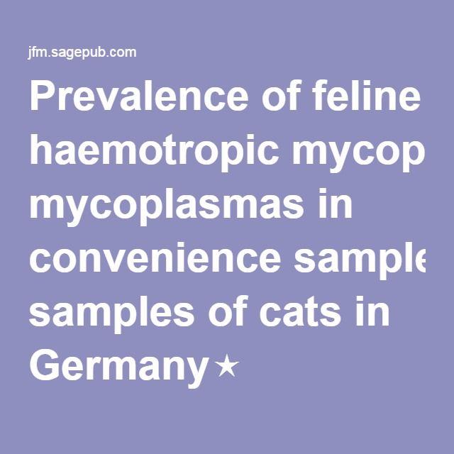 Prevalence of feline haemotropic mycoplasmas in convenience samples of cats in Germany⋆