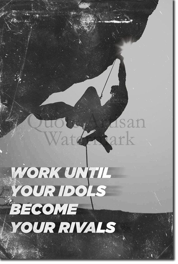 Motivational Rock Climbing Quote by QuoteArtisan