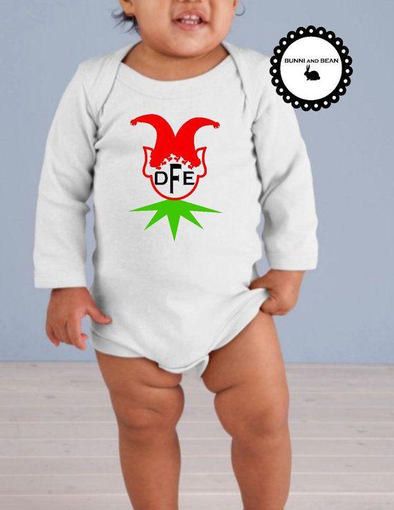 Monogram Christmas Onesie, Christmas Bodysuit, Monogram Christmas, Personalized Christmas, Christmas Onesie, Toddler Christmas Shirt BY BUNNI AND BEAN.
