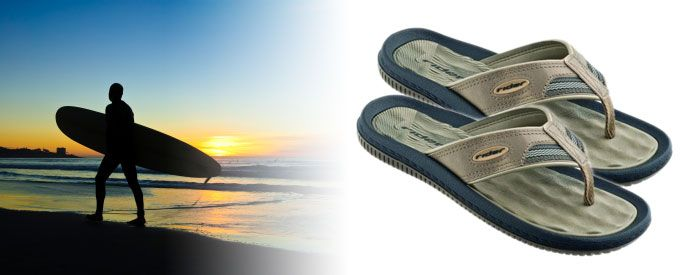 Dunas V - Tan A brand-new take on one of our bestselling sandals, this comfortable flip-flop features a classic, synthetic-leather upper, a soft, waffle-textured EVA insole, and an extra-soft upper and fabric toe.