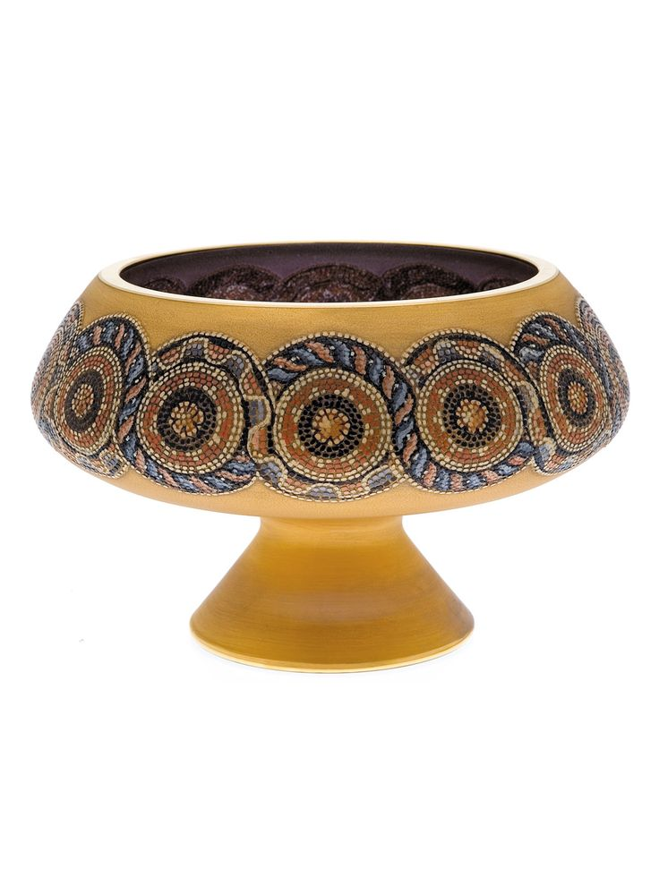 Holy bowl - Handpainted mosaic - Paşabahçe glassware