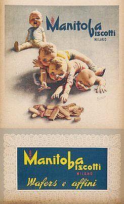Manitoba biscotti - Milano - 1950's - (G. Boccasile) -