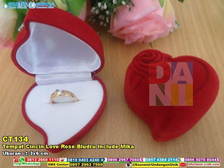 Tempat Cincin Love Rose Bludru Include Mika | Souvenir Pernikahan