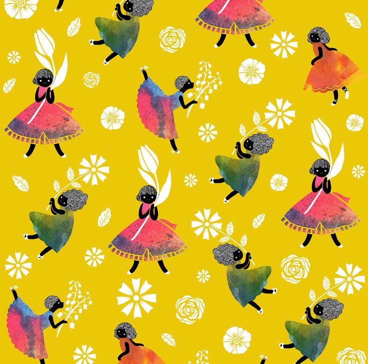 Sas and Yosh 'Flower Girls - Yellow'