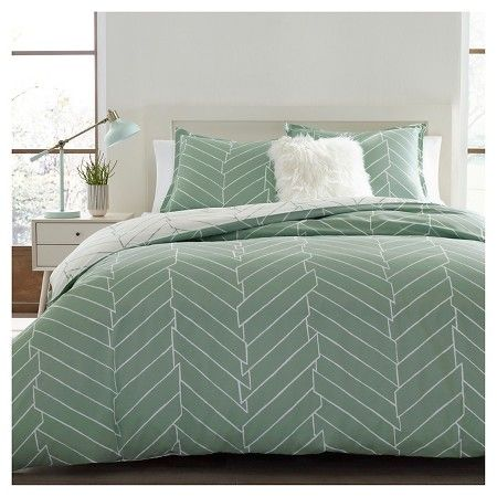 Ceres Duvet Cover Set King Light Green - City Scene® : Target