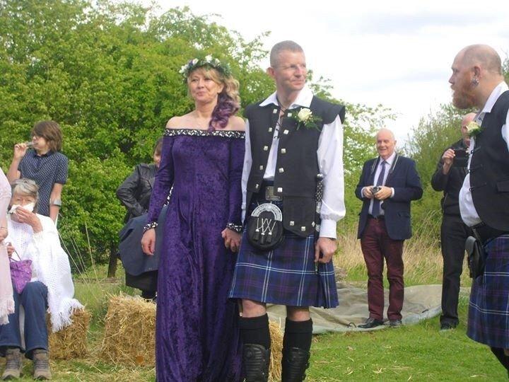 "Medieval Gown, Elvish Dress, Pagan Wedding Dress, Gothic Dress, Medieval Wedding Dress, Handfasting Dress, ""Lucretia"" by frockfollies on Etsy https://www.etsy.com/listing/95273379/medieval-gown-elvish-dress-pagan-wedding"