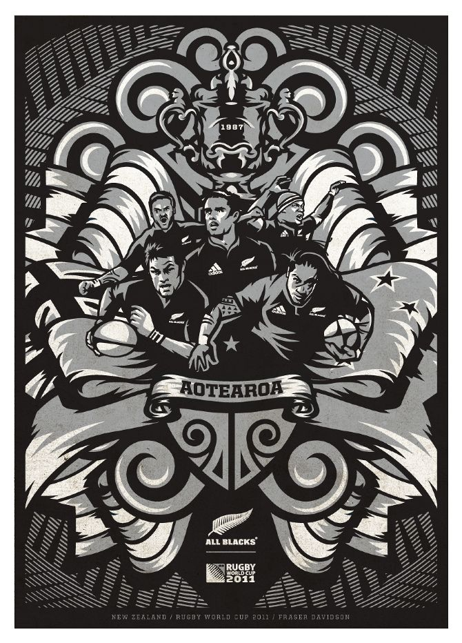 All blacks art by fraser davidson