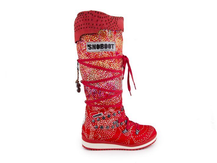 Snoboot - Luxusní módní sněhule Mutant High Braille / červená