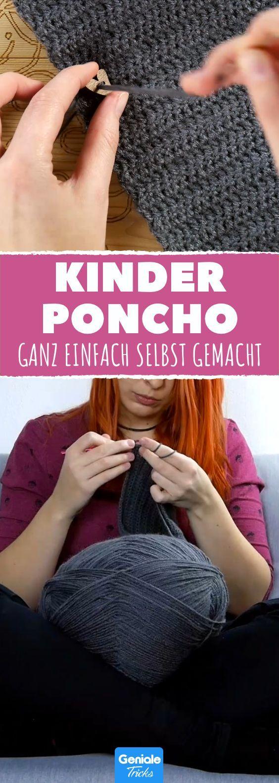 Ein wunderschöner Poncho für Kinder – trotzdem