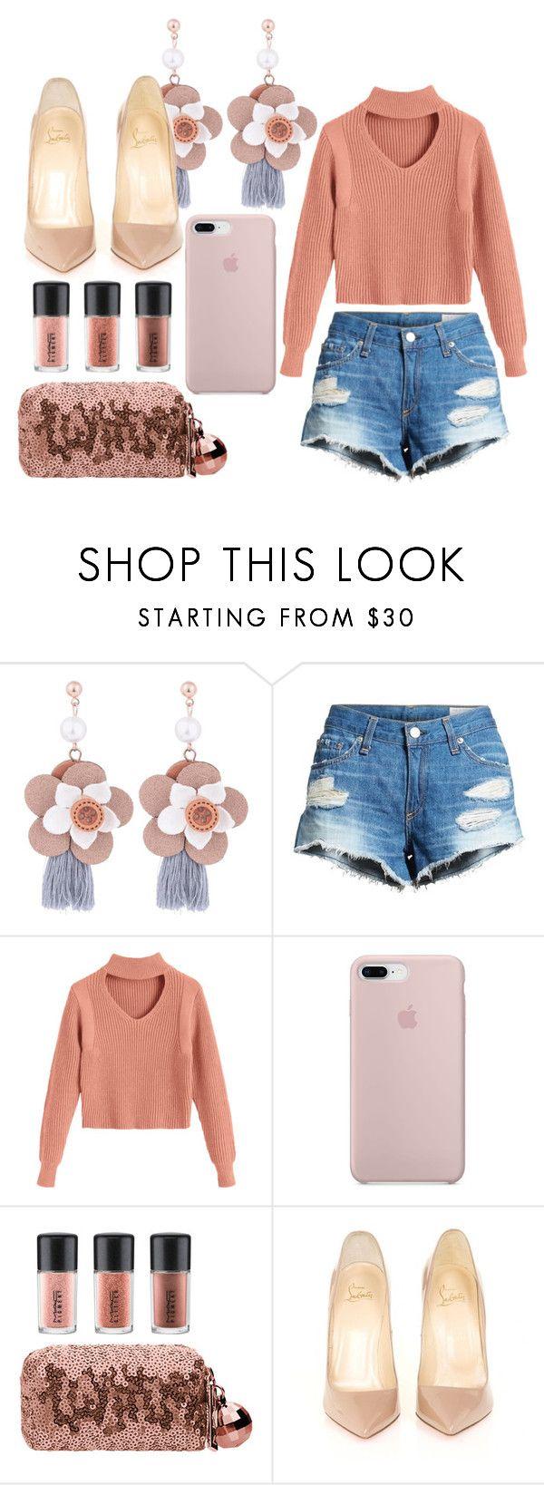 """Untitled #6444"" by mariaisabel701 ❤ liked on Polyvore featuring rag & bone/JEAN, MAC Cosmetics and Christian Louboutin"