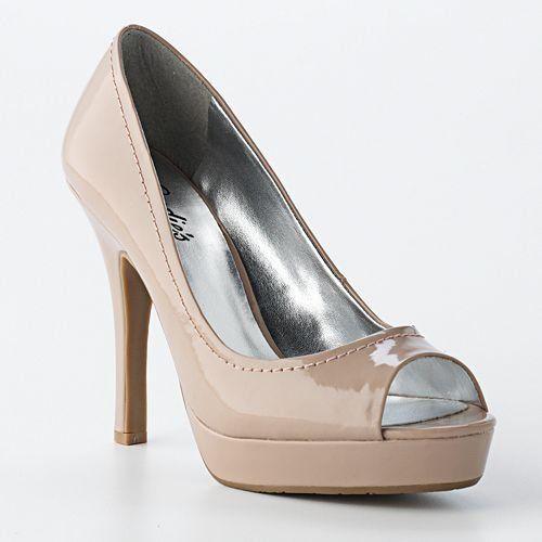 "My Candies heels from Kohls - in ""blush"". Very Princess Letizia! LOLPeep Toe Pumps, Platform High Heels, Candies Nude, Peep Toes Pump, Heels Shoes, Kohls, Candies Heels, Peep Toes Platform, New Shoes"