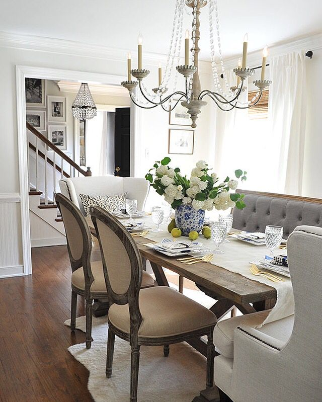 Small Country Table And Chairs: Best 25+ Dining Table With Bench Ideas On Pinterest
