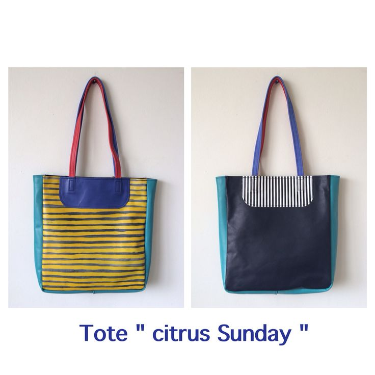 Hand painted leather totes