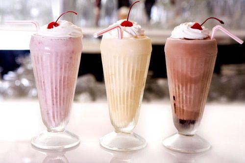 Milkshake glasses