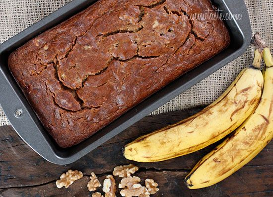 Low Fat Banana Nut Bread - Insanely moist banana nut bread without all the fat!