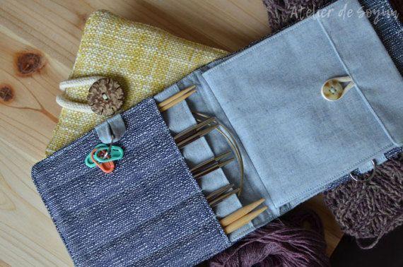 Interchangeable knitting needle case. Need.