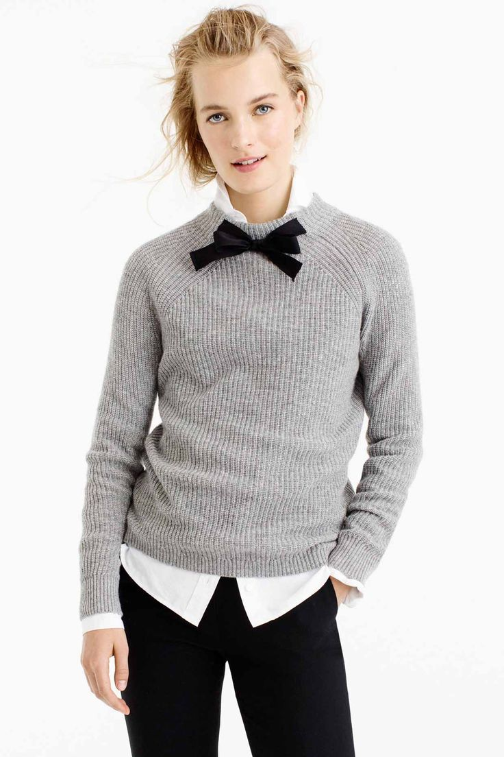 GAYLE TIE-NECK SWEATER - Cozy Fall Favorites and Holiday Gift Ideas from J.Crew - Poor Little It Girl