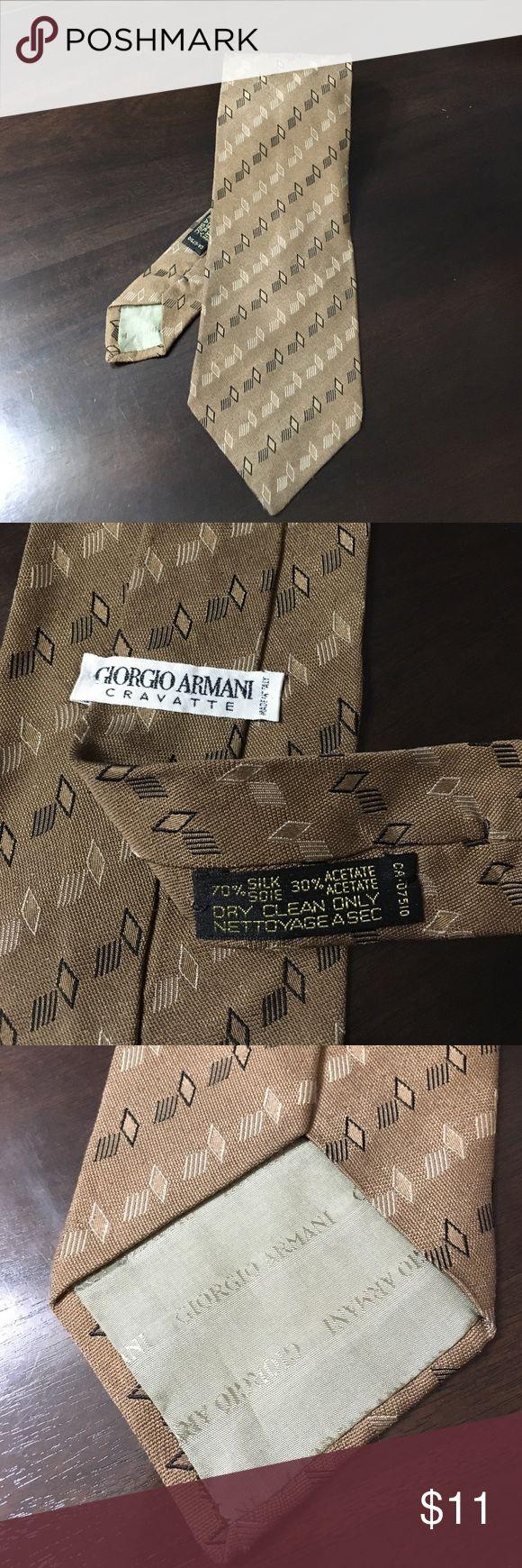 Giorgio Armani Cravatte tie EUC no flaws made in Italy. 70% silk 30% acetone Giorgio Armani Accessories Ties