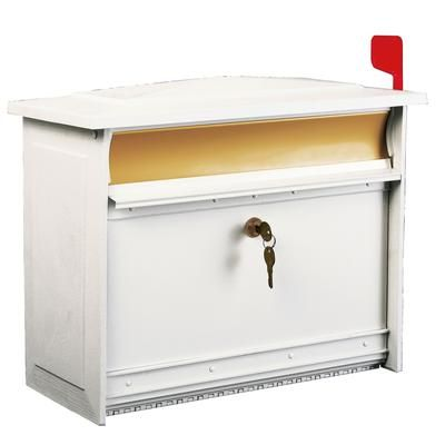 white mailsafe wallmount mailbox msk0000w home