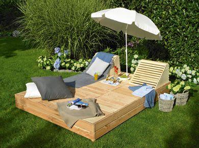 """Gartenliege """"Sonnendeck"""" beim Toom Baumarkt gibt es die Anleitung nicht mehr, aber zB hier https://www.mach-mal.de/projekte/160/gartenliege-sonnendeck steht wie es gemacht wird."""