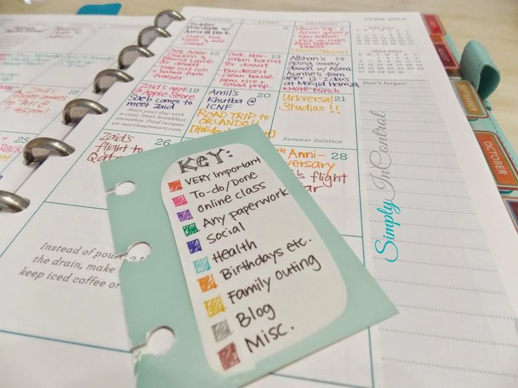 25 best color coding planner ideas on pinterest school for Color coding planner