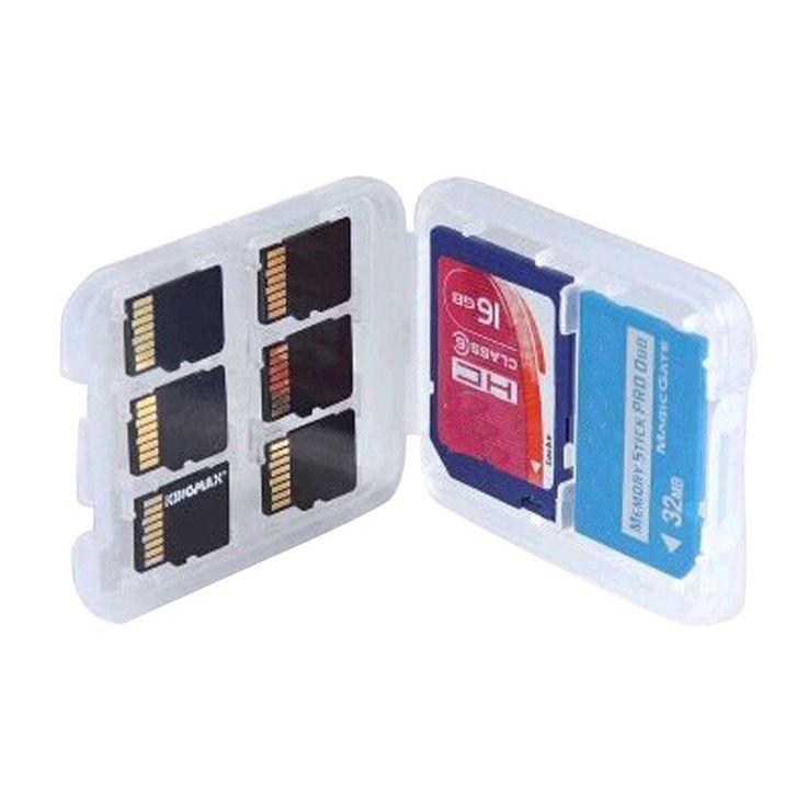 $0.83 (Buy here: https://alitems.com/g/1e8d114494ebda23ff8b16525dc3e8/?i=5&ulp=https%3A%2F%2Fwww.aliexpress.com%2Fitem%2FHigh-Quality-8-in-1-Plastic-Transparent-Micro-for-SD-SDHC-TF-MS-Memory-Card-Storage%2F32711698131.html ) High Quality 8 in 1 Plastic Transparent Micro for SD SDHC TF MS Memory Card Storage Case Box Protector Holder for just $0.83