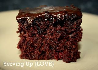 Cherry Chocolate Cake - making tonight for church with Cherry frosting. Yum!