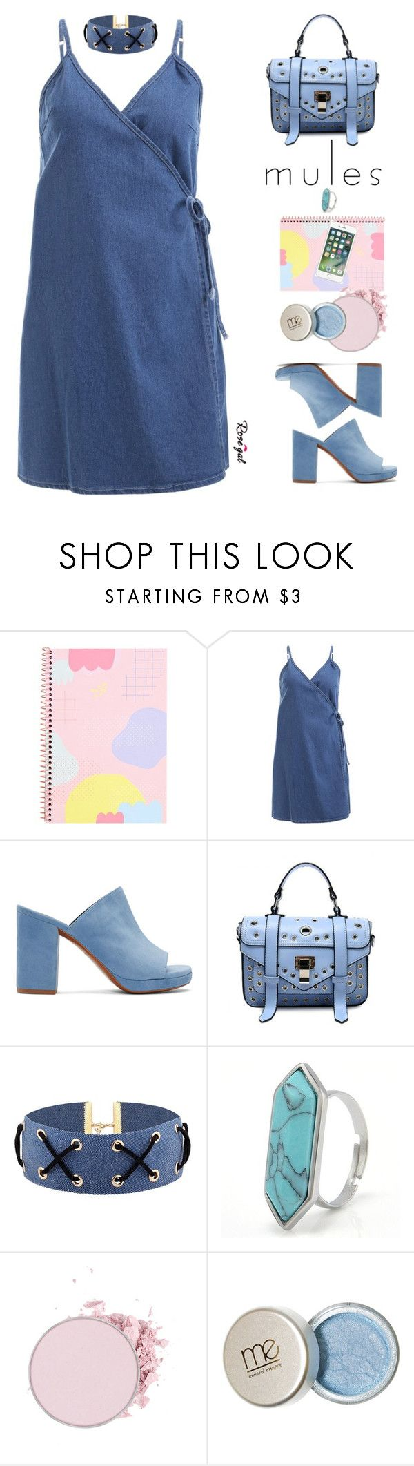 """75. Rosegal mules style"" by wannanna ❤ liked on Polyvore featuring Robert Clergerie"