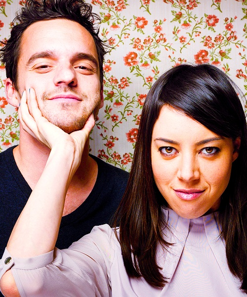 Jake Johnson and Aubrey Plaza. Excuse me as I pick my jaw up off the floor from this adorableness.