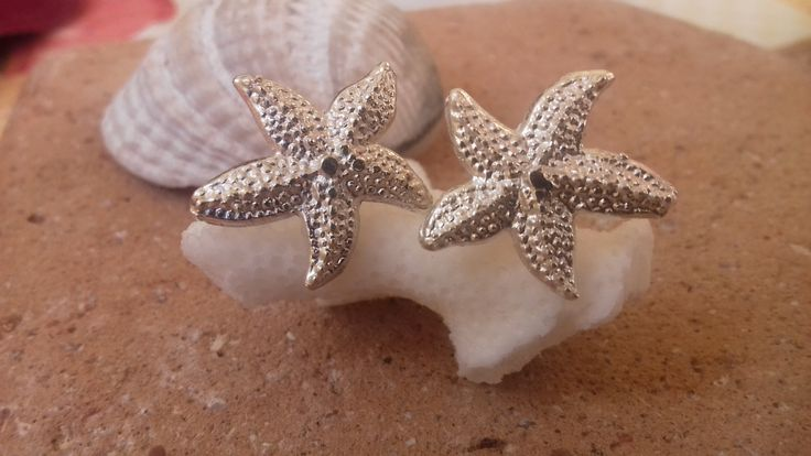 Starfish Silver Earring. by ArtFiligreeKosHellas on Etsy