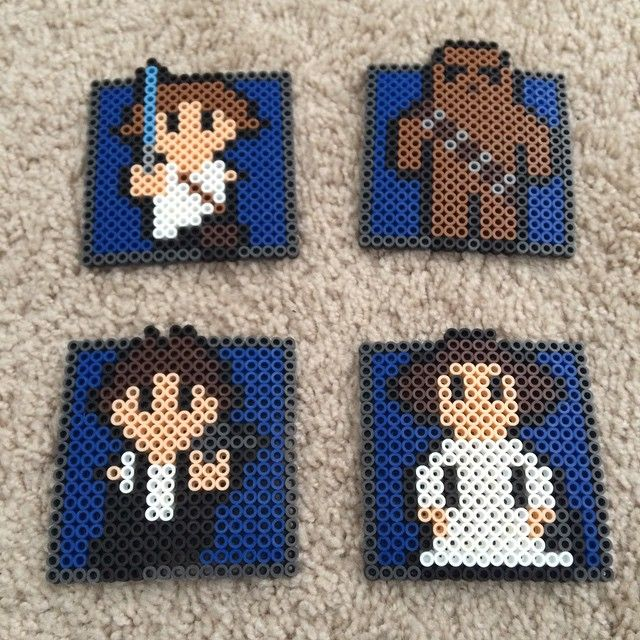 Star Wars coasters perler beads by skantaliz