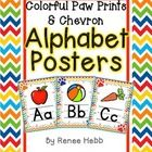 These chevron alphabet posters are a must have for any chevron loving teacher! The posters are 8.5x11, and created with a bright chevron pattern. T...
